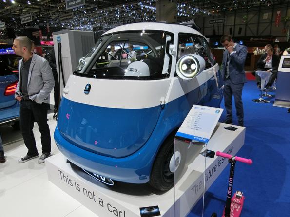スイスの小型EV。 どう見ても、...