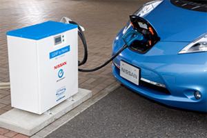 日産自、リーフから住宅へ電力供給を可能にする「EVパワーステーション」発表
