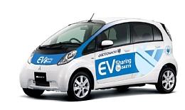 三菱自動車、日本初 横浜元町商店街にEV専用カーシェアリングシステム導入