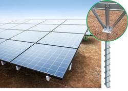 新日鉄エンジの太陽光パネル設置工法、日揮の大型メガソーラーで採用