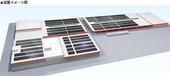 オリックスの屋根借り方式太陽光発電の第1号、富山県のコカ・コーラ工場