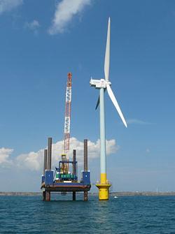 千葉県沖合で国内初の洋上風力発電(着床式)が設置完了
