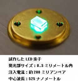 日本ガイシ、緑色LEDの発光効率が約2倍になる半導体を開発