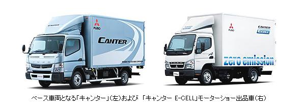 三菱ふそうの小型電気トラック、高速道路の作業用車両に