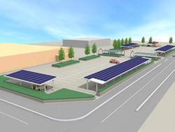 三井物産、宮城県東松島市に復興支援のメガソーラー、防災拠点向けに太陽光発電も設置