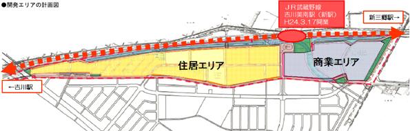 大和ハウス、JR武蔵野線 吉川美南駅前でのスマートコミュニティ開発を発表