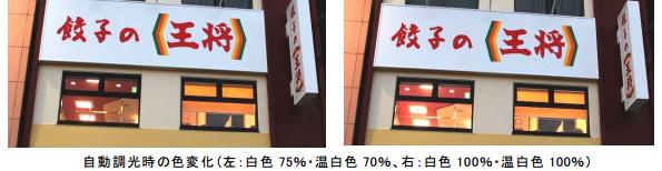餃子の王将、京都府内店舗にLED照明、調光制御システムを導入