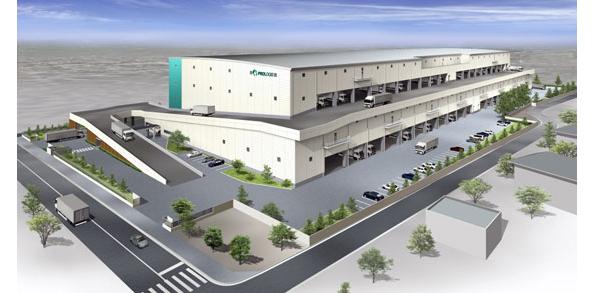 埼玉県北本市のテナント型物流施設が着工 屋根にメガソーラーも