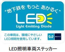 東京メトロ、電車内と駅サインにLED照明を本格導入