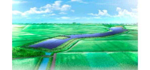 日本アジアグループ、埼玉県行田市に長さ500メートルのメガソーラー
