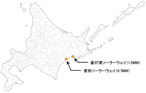 日本アジアグループ、北海道釧路市に合計2.2MWの太陽光発電所を建設