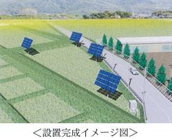 追尾型太陽光+ソーラーシェアリング(稲作) 姫路市とフジプレアムが共同研究