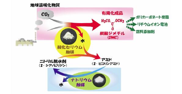 東北大など、CO2を蓄電池の電解液などに高効率で変換できる新技術を開発
