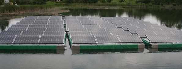 兵庫県、農業用ため池で「フロート式太陽光発電」の実証実験