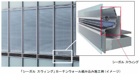 強風でも自動調整 自然の風を利用したビル用の換気装置