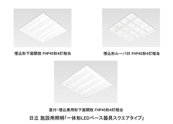 日立アプライアンス、施設用LED照明の新機種100種類を新たに発表