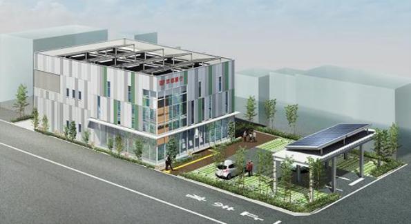 京都銀行の新店舗はCO2ゼロ LED照明・太陽光発電・電気自動車など導入