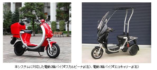 富士通、ベンチャー企業と協業し電動バイクのインフラシステム構築へ