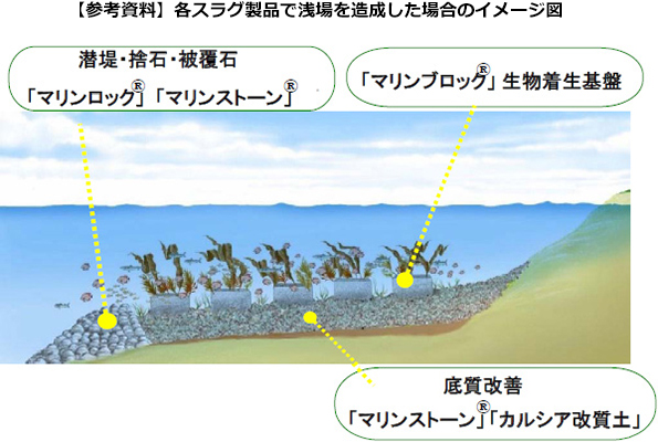 鉄鋼スラグの再生資材で浅瀬を造成 JFEが横浜近海で水質浄化の研究