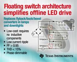 日本TI、照明器具用LEDをコスト削減・小型化・簡素化する技術を開発