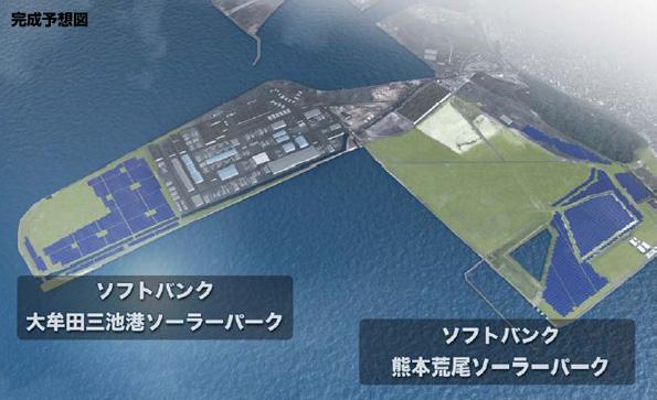 熊本県と福岡県に20MW級のメガソーラー2基 ソフトバンクと三井物産が新設