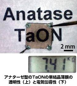 顔料が太陽電池などの電子材料に 東大が半導体「酸窒化タンタル」の合成に成功