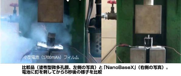 リチウムイオン電池に塗布型不織布 高耐熱・発火リスクを低減できることが判明