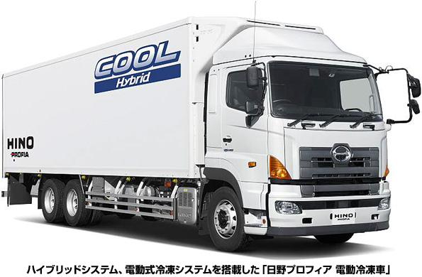 冷凍車にハイブリッドシステム搭載で燃費向上 予冷もタイマーで可能に