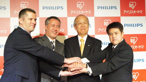 アイリスオーヤマとフィリップスが提携 屋外用LEDで事業拡大へ