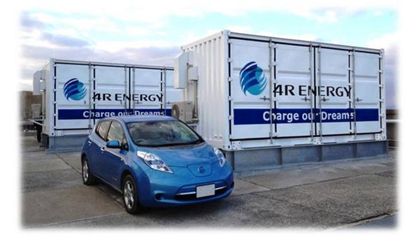 電気自動車「リーフ」のリユース蓄電池で大型蓄電システム 大阪で実証開始