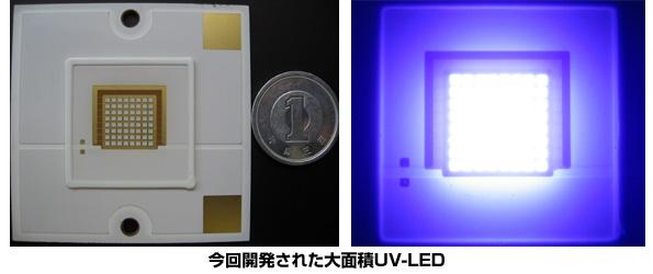 ナイトライド・セミコンダクター、世界最高出力のUV-LED面発光に成功