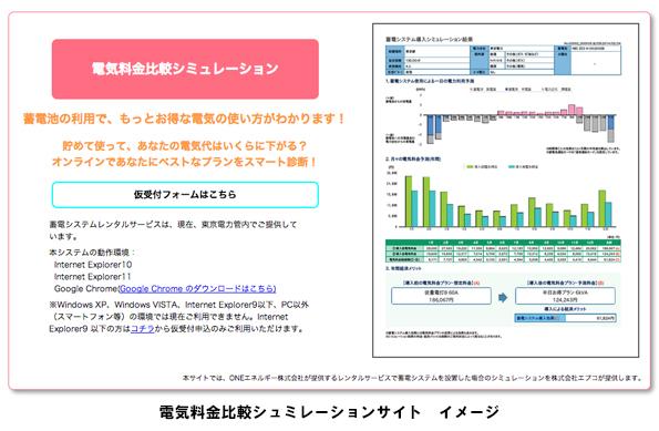 日本初、家庭用蓄電システムの導入効果を測定できる電気料金比較サイト