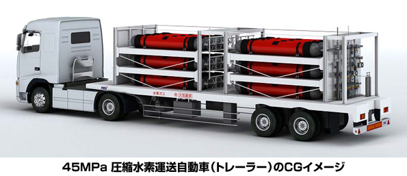 トレーラーの水素容器圧力基準が45MPaに改正 燃料電池車普及に一歩前進
