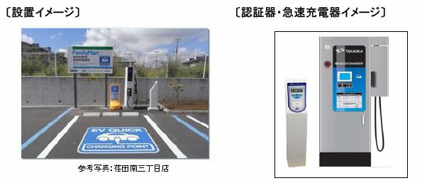 ファミリーマートで電気自動車の急速充電が可能に