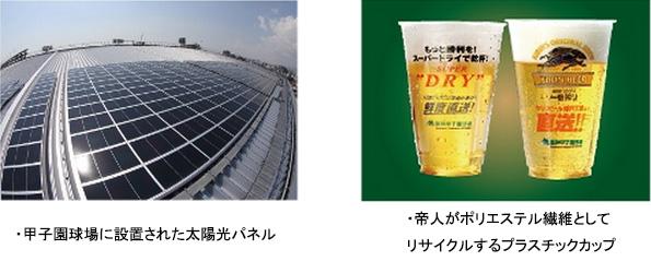 帝人、甲子園球場の「エコスポンサー」に ゴミ削減や資源の再利用を促進