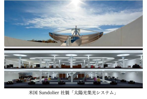 ミラー制御で太陽光を屋内照明に 北米生まれの集光・採光システム