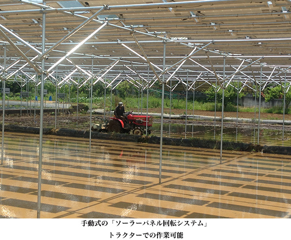 静岡県の田んぼの上でソーラーシェアリング 角度調節で発電量もアップ