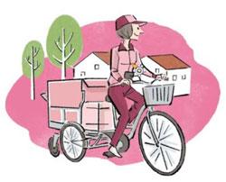 運送業のリヤカー付き電動自転車、アシスト力3倍に ヤマト運輸が実証実験