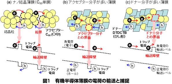 有機薄膜太陽電池の電荷移動を妨げるメカニズム発見 変換率向上に期待