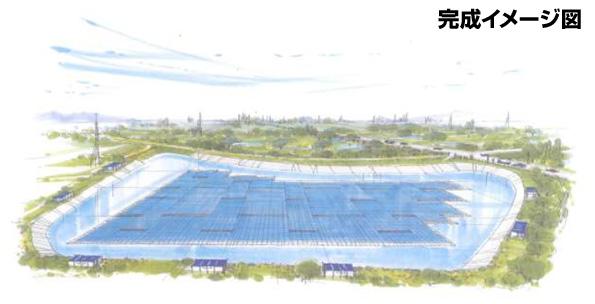埼玉県に世界最大規模のフロート式メガソーラー パネルはインリーソーラー製