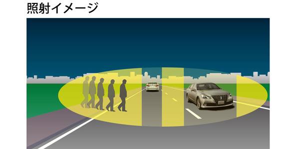 対向車の方だけハイビームにしないヘッドライト LEDで個別制御する新技術