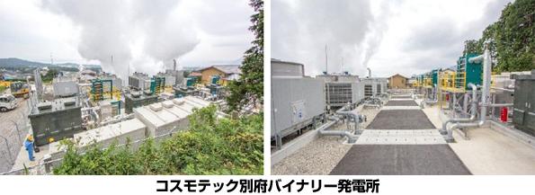 宇宙事業のコスモテック、別府温泉で日本最大級500kWのバイナリー発電開始