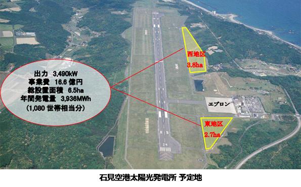 島根県、石見空港や工業団地でメガソーラー建設へ 事業者は入札予定