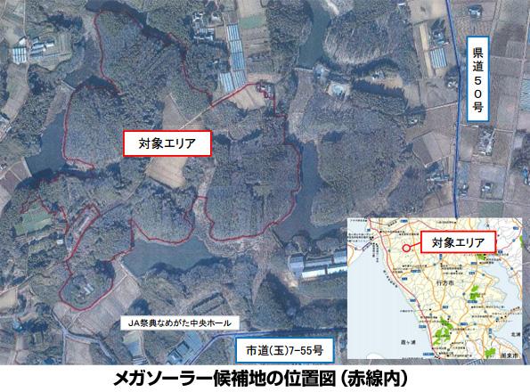 茨城県行方市、市有地におけるメガソーラー事業に係る参加事業者を公募