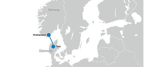 ノルウェー・デンマーク間に世界一の直流送電線 再エネ接続可能量が増大