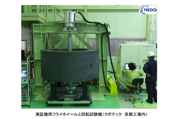 世界最大級のCFRPフライホイール 次世代型蓄電システムの大容量化を実現