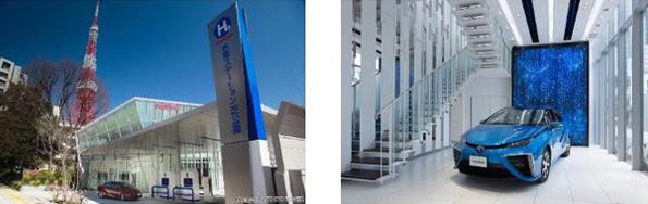 東京都・港区に都内初の水素ステーション完成 トヨタ「MIRAI」も展示
