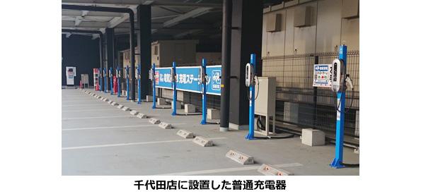 ホームセンターにもEV用充電器設置の波 関東の「ジョイフル本田」5店に100基