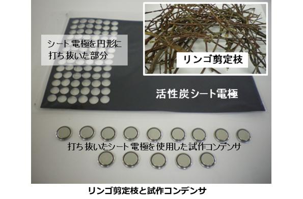 「リンゴの木の枝」→「活性炭」→「電子部品」 青森県の新しいバイオマス活用法