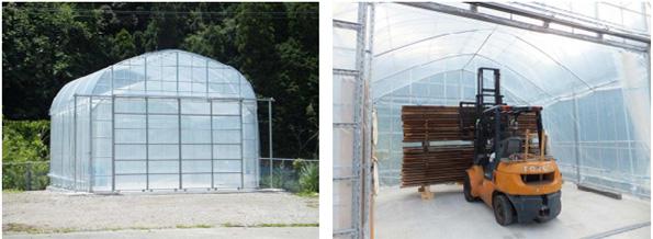 和歌山県に「太陽熱を利用する木材乾燥施設」が完成 見学会も実施